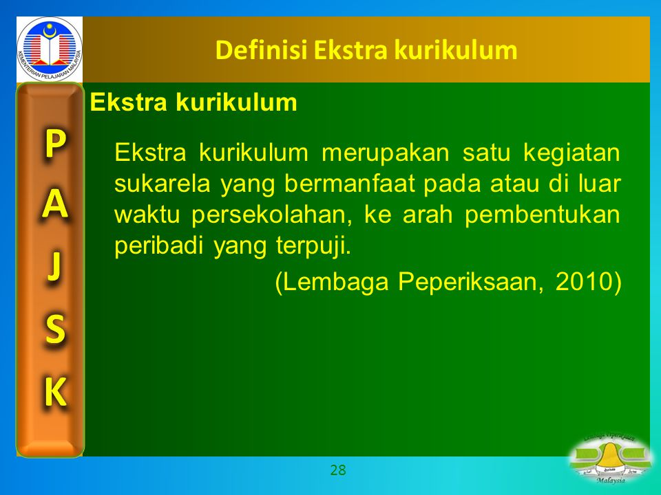 Definisi Ekstra kurikulum