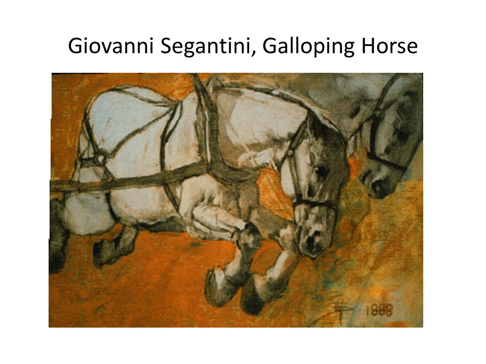 Giovanni Segantini, Galloping Horse