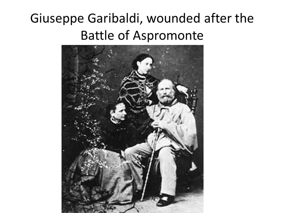 Giuseppe Garibaldi, wounded after the Battle of Aspromonte
