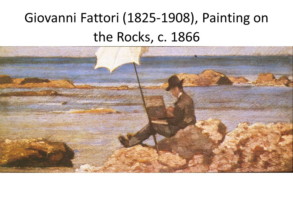 Giovanni Fattori (1825-1908), Painting on the Rocks, c. 1866
