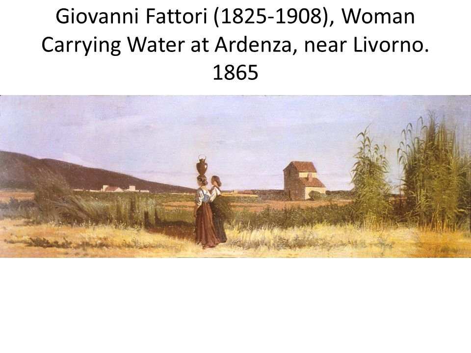 Giovanni Fattori (1825-1908), Woman Carrying Water at Ardenza, near Livorno. 1865