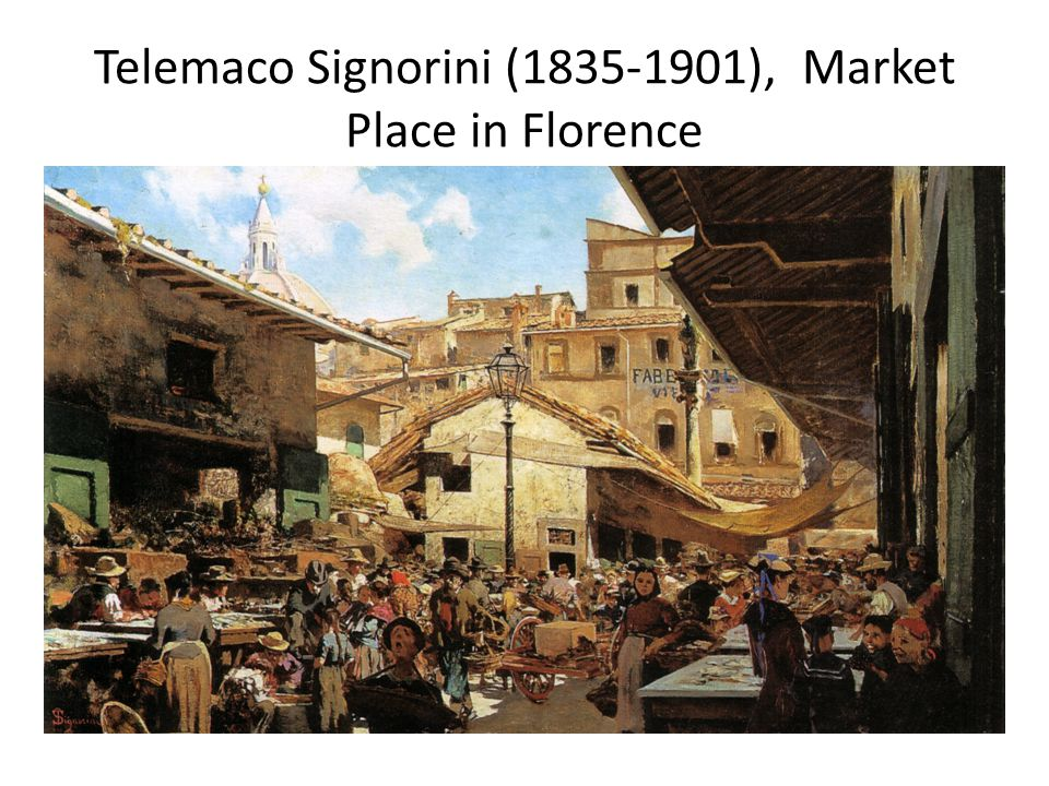 Telemaco Signorini (1835-1901), Market Place in Florence