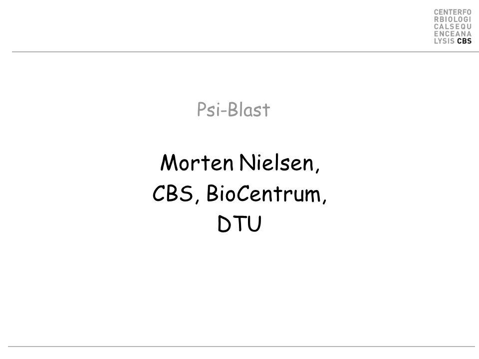 Morten Nielsen, CBS, BioCentrum, DTU