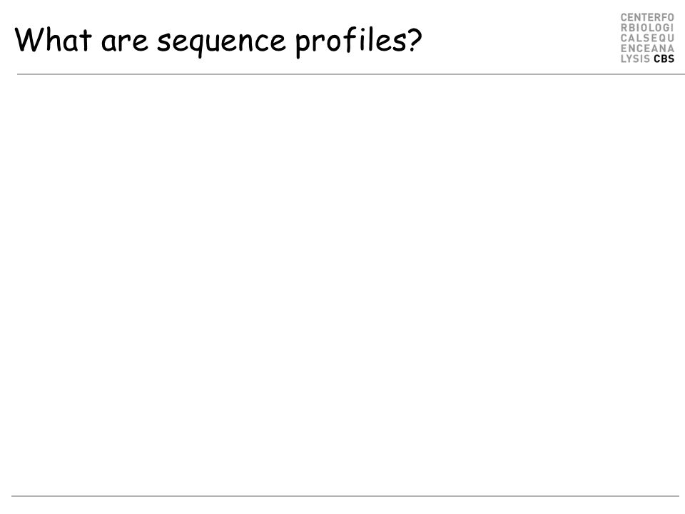 What are sequence profiles