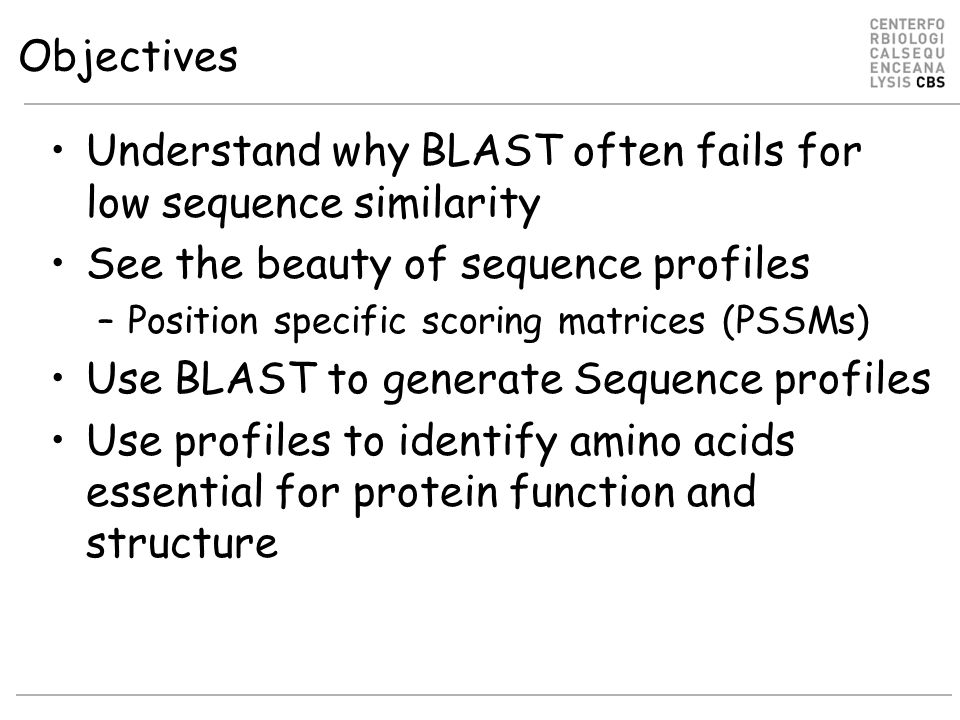 Understand why BLAST often fails for low sequence similarity