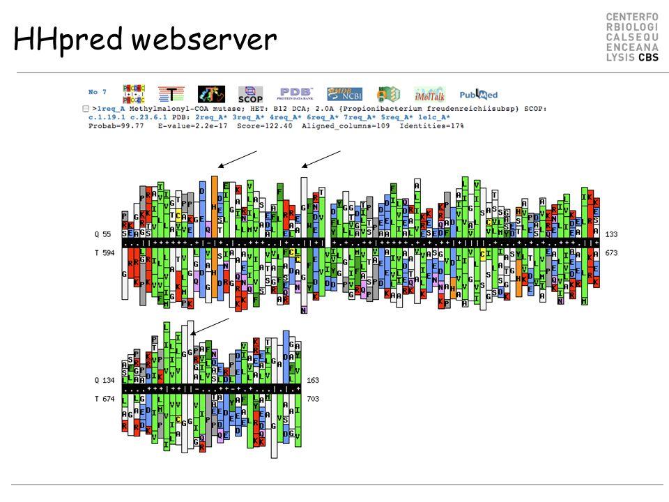 HHpred webserver