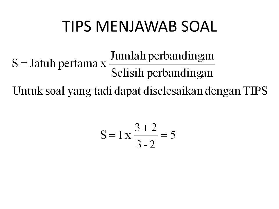TIPS MENJAWAB SOAL