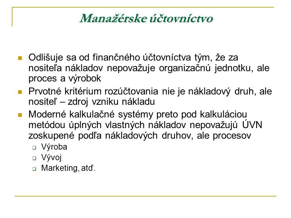 Manažérske účtovníctvo