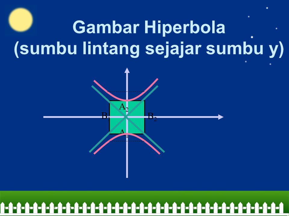 Gambar Hiperbola (sumbu lintang sejajar sumbu y)