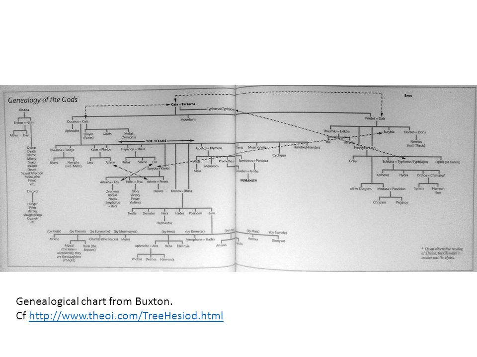Genealogical chart from Buxton.