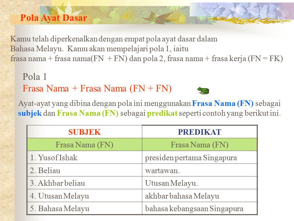 Frasa Nama + Frasa Nama (FN + FN)