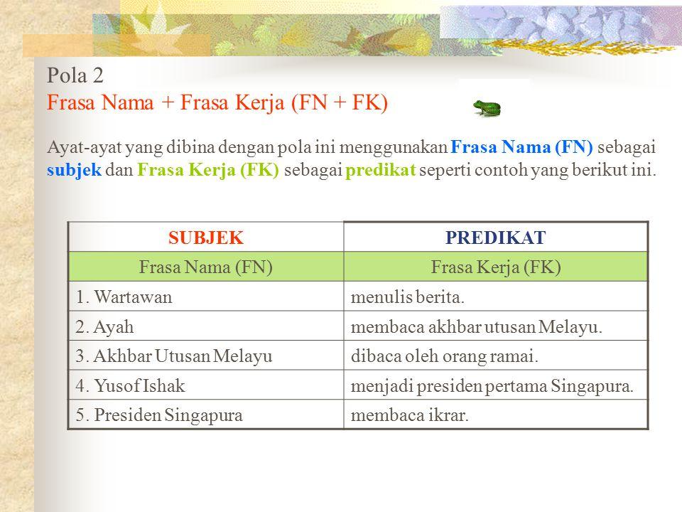 Frasa Nama + Frasa Kerja (FN + FK)
