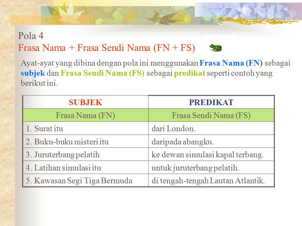 Frasa Nama + Frasa Sendi Nama (FN + FS)