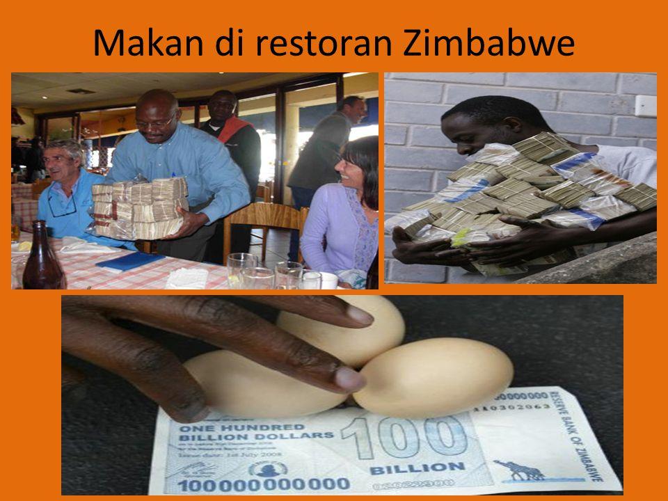 Makan di restoran Zimbabwe