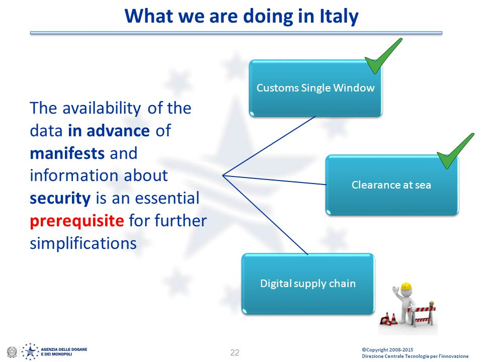 What we are doing in Italy