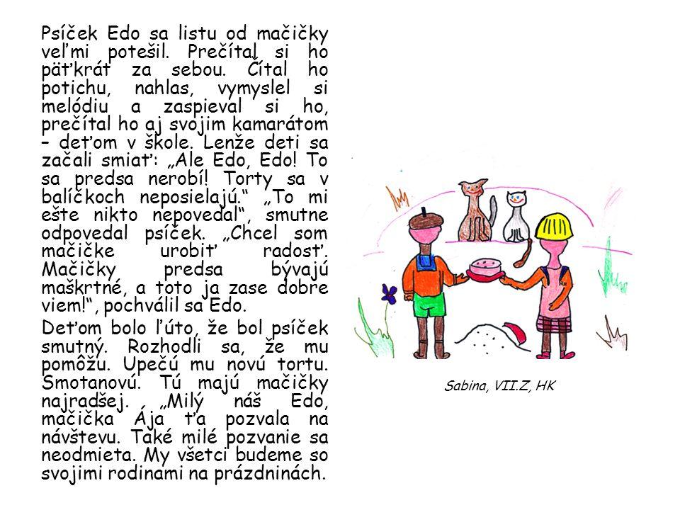Psíček Edo sa listu od mačičky veľmi potešil