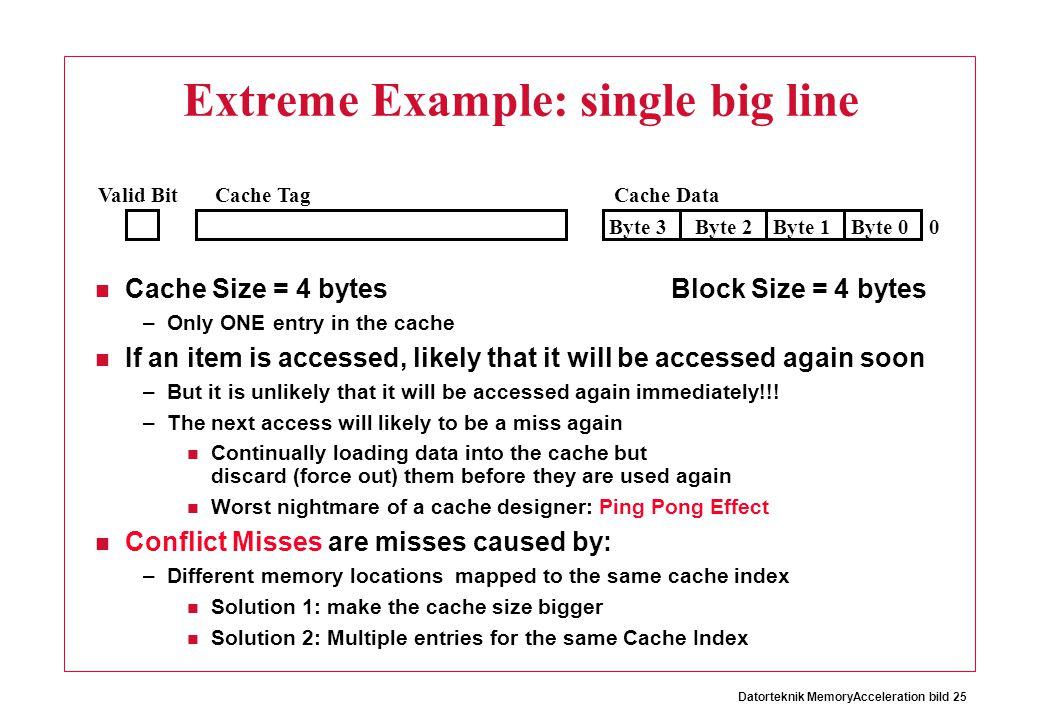 Extreme Example: single big line