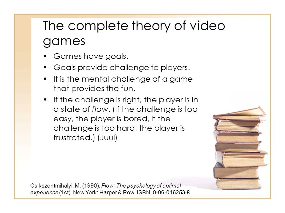 The complete theory of video games