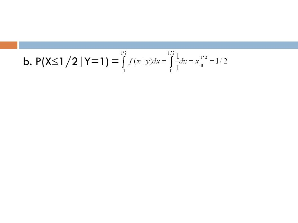 b. P(X1/2|Y=1) =