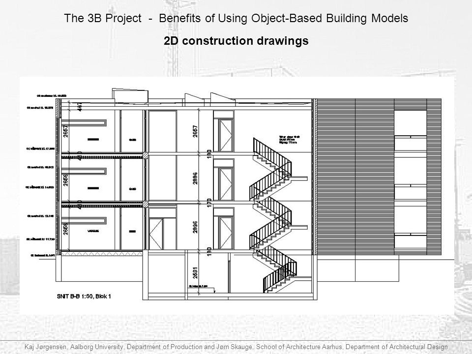 2D construction drawings