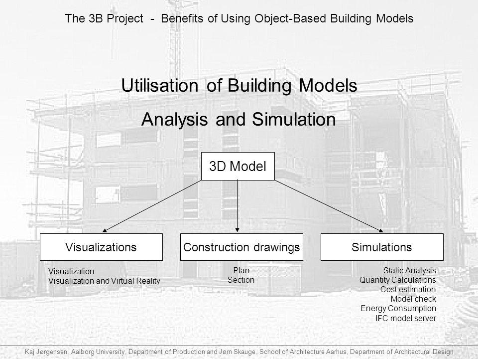 Utilisation of Building Models Analysis and Simulation