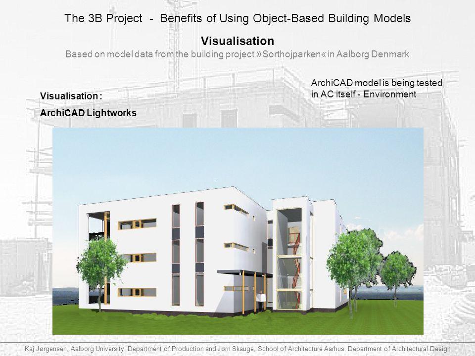 Visualisation Based on model data from the building project »Sorthojparken« in Aalborg Denmark.