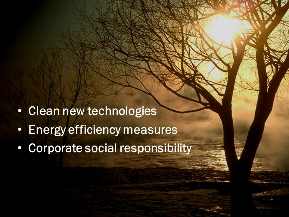 Clean new technologies