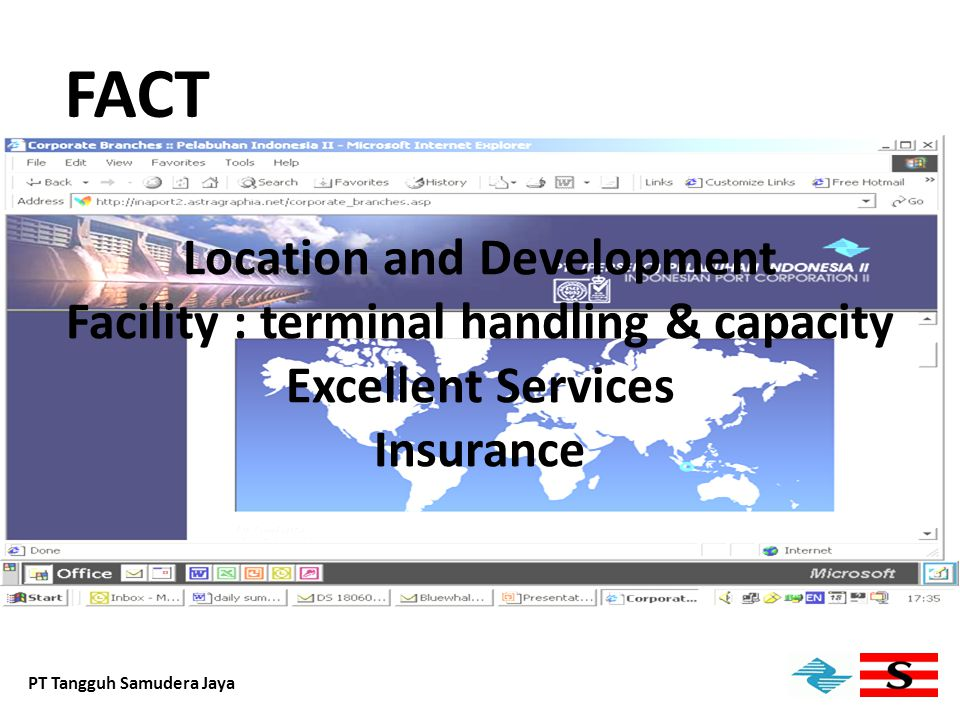 FACT Location and Development Facility : terminal handling & capacity