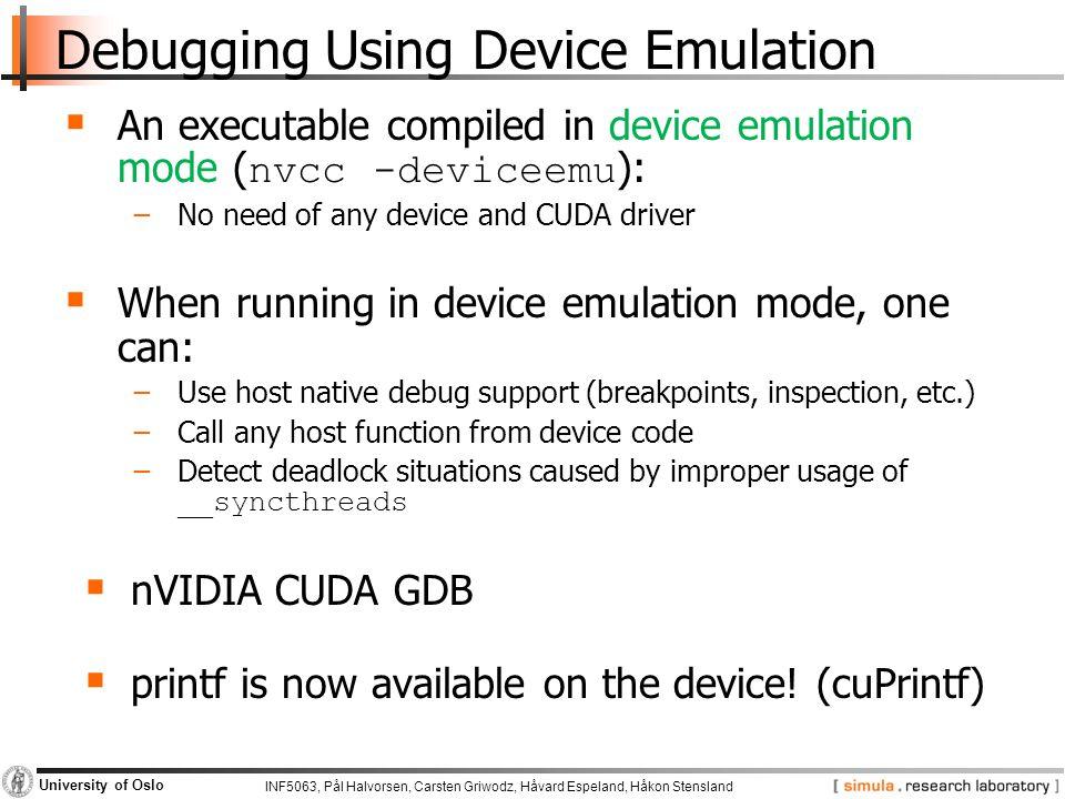 Debugging Using Device Emulation