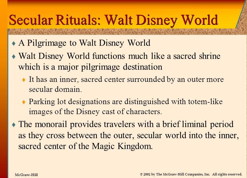 Secular Rituals: Walt Disney World
