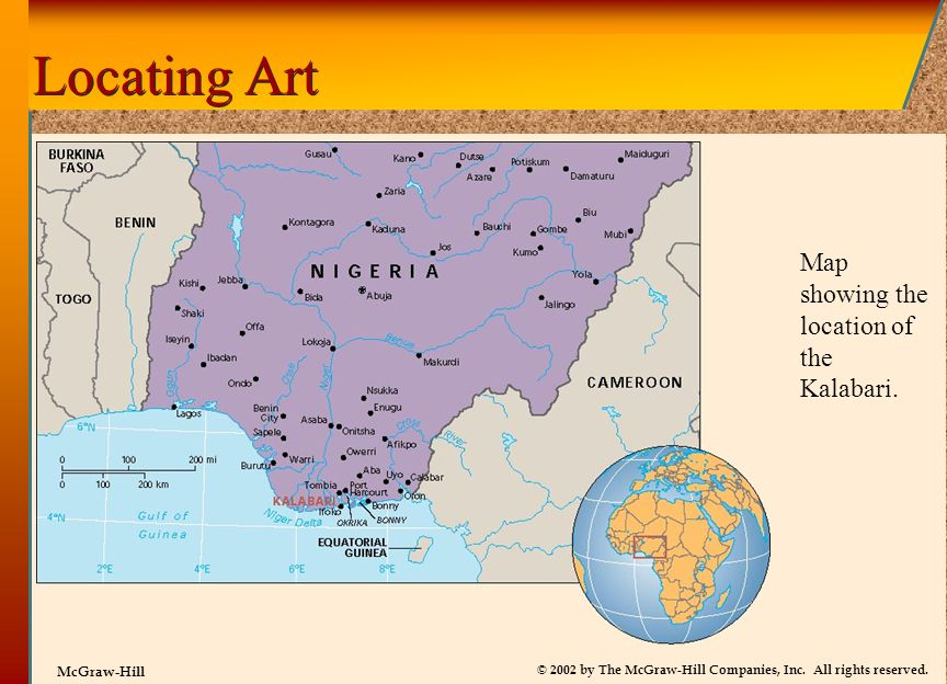 Locating Art Map showing the location of the Kalabari.