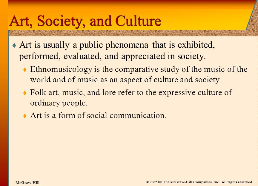 Art, Society, and Culture