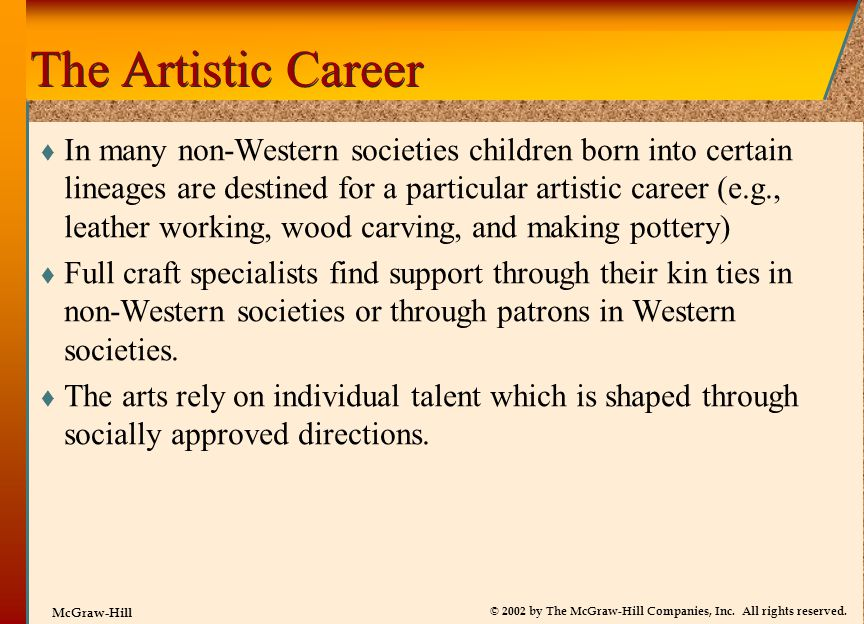 The Artistic Career
