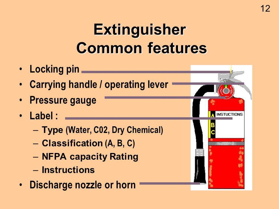 Extinguisher Common features