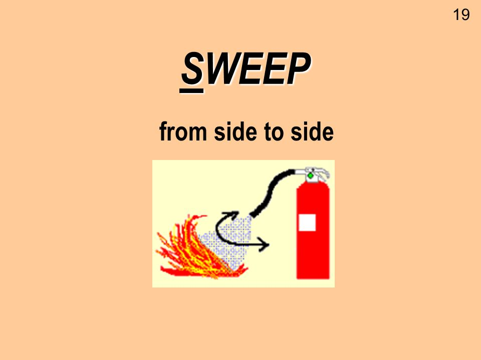 19 SWEEP from side to side