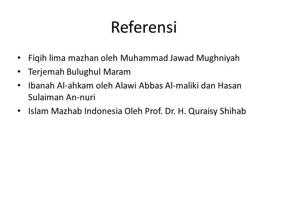 Referensi Fiqih lima mazhan oleh Muhammad Jawad Mughniyah