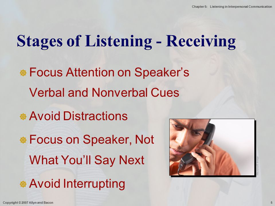 Stages of Listening - Receiving