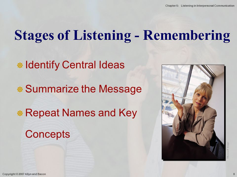 Stages of Listening - Remembering