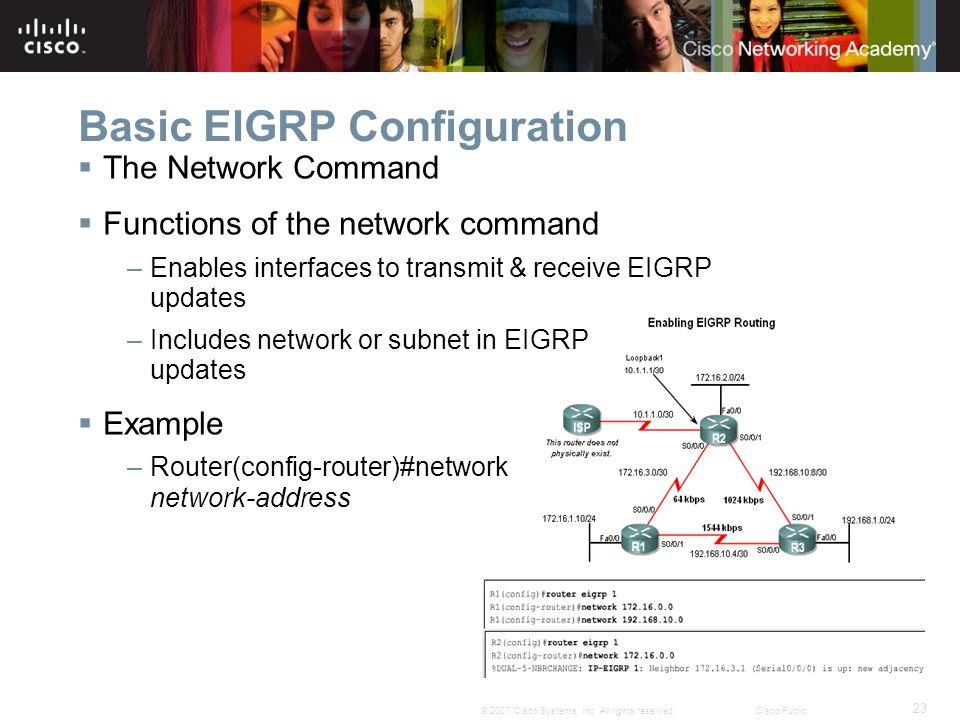 Basic EIGRP Configuration
