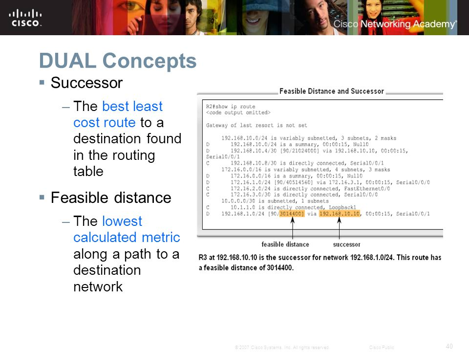 DUAL Concepts Successor Feasible distance