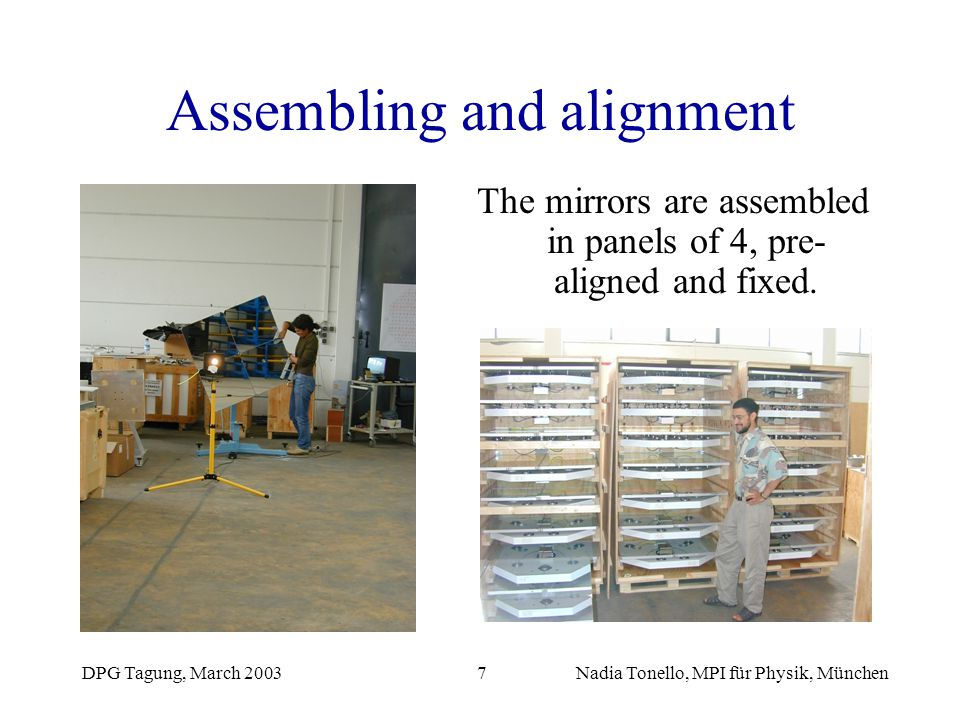 Assembling and alignment