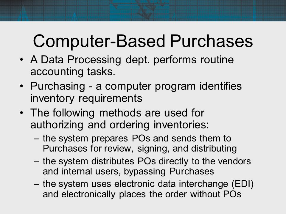 Computer-Based Purchases