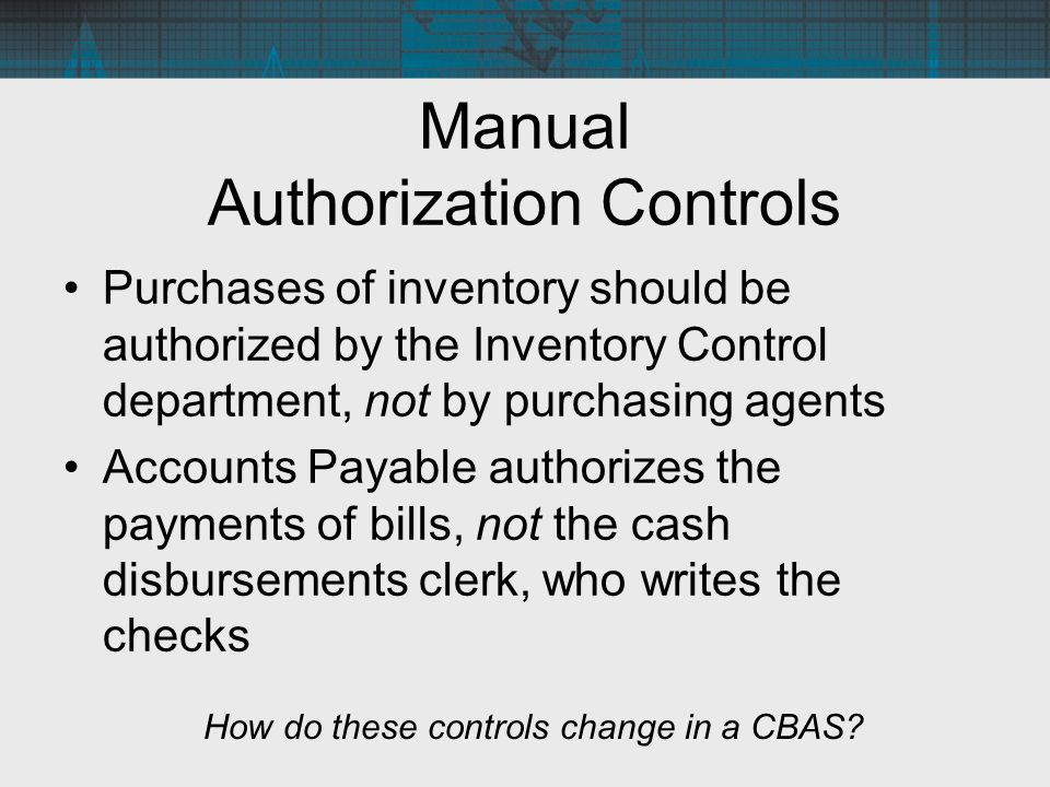 Manual Authorization Controls