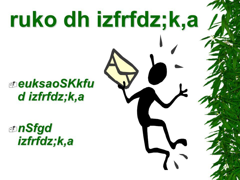 ruko dh izfrfdz;k,a euksaoSKkfud izfrfdz;k,a nSfgd izfrfdz;k,a