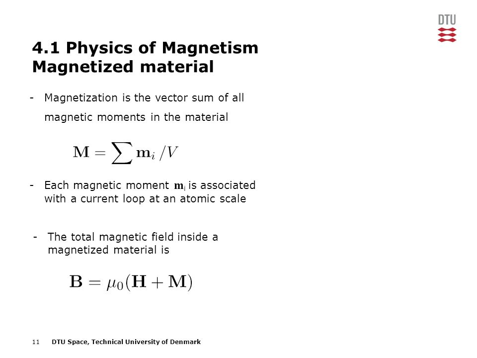 4.1 Physics of Magnetism Magnetized material