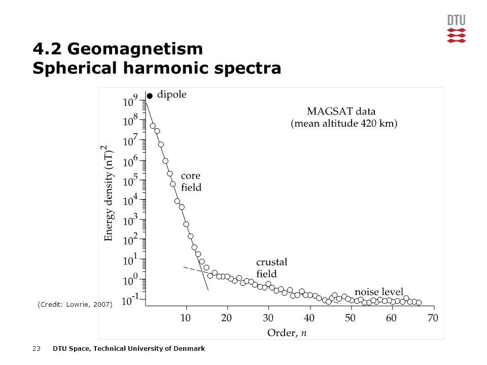 4.2 Geomagnetism Spherical harmonic spectra