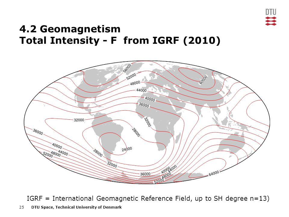 4.2 Geomagnetism Total Intensity - F from IGRF (2010)