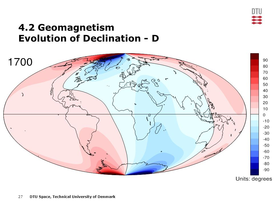 4.2 Geomagnetism Evolution of Declination - D