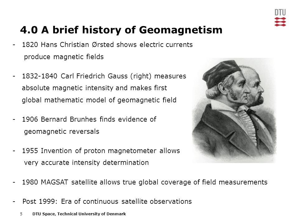 4.0 A brief history of Geomagnetism