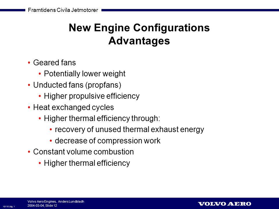 New Engine Configurations Advantages